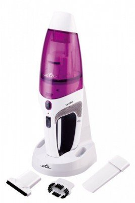 ETA Handheld vacuum cleaner  VERTO Bagless, White/ purple, 6 W, 0.5 L, HEPA filtration system, Cordless, 12 V, 20 min