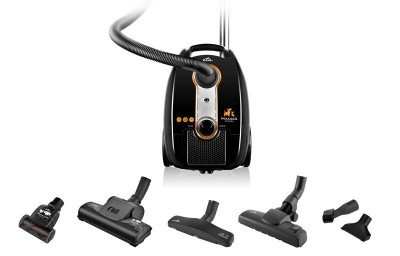 ETA Vacuum Cleaner MANOA ANIMAL Bagged, Black, 700 W, 3 L, A, A, B, A, 74 dB, HEPA filtration system, 230 V