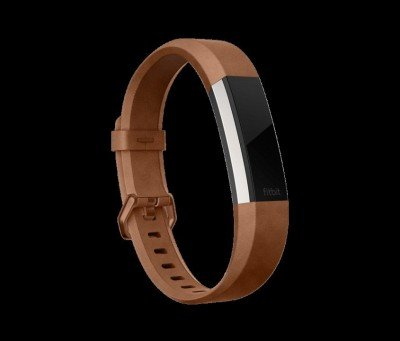 Fitbit Alta HR, Accessory Band, Leather, Brown - Large