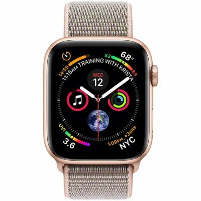 AppleWatch Series4 GPS, 40mm Gold Aluminium Case with Pink Sand Sport Loop, Model A1977