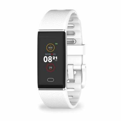MyKronoz Smartwatch Zetrack  White/ silver, 90 mAh, Touchscreen, Bluetooth, Heart rate monitor, Waterproof, IP67 m