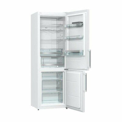 Gorenje Refrigerator NRK6192MW Free standing, Combi, Height 185 cm, A++, No Frost system, Fridge net capacity 222 L, Freezer net capacity 85 L, Display, 42 dB, White