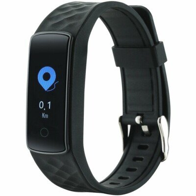 Smart watch, colorful 0.96inch TFT, IP67 waterproof, heart rate monitor, multisport mode, compatibility with iOS and android, 90mAh long life battery, Black, host: 43.7*22*12mm, strap: 233*21mm, 25.3g