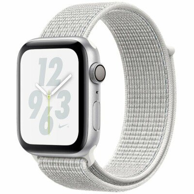 AppleWatch Nike+ Series4 GPS, 44mm Silver Aluminium Case with Summit White Nike Sport Loop, Model A1978