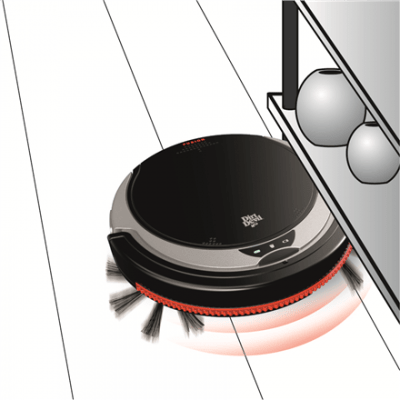 Dirt Devil Vacuum Cleaner Fusion M611 Robot, Black/Silver, 0.24 L, 60 min, Cordless, 14.4 V