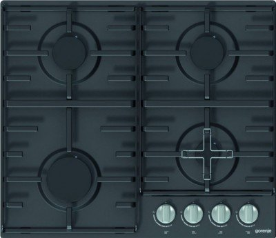 Gorenje Hob G640MB Gas, Number of burners/cooking zones 4, Black,