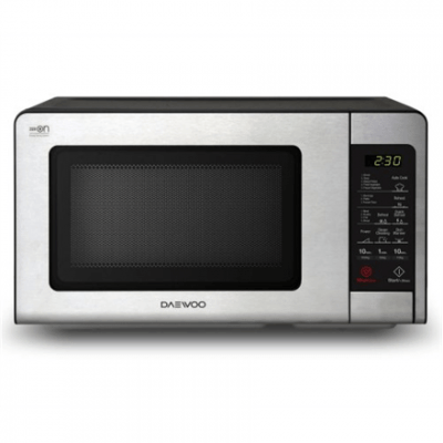 DAEWOO Microwave oven KQG-664BB 20 L, Grill, Touch control, 700 W, Black, Stainless steel, Free standing, Defrost function