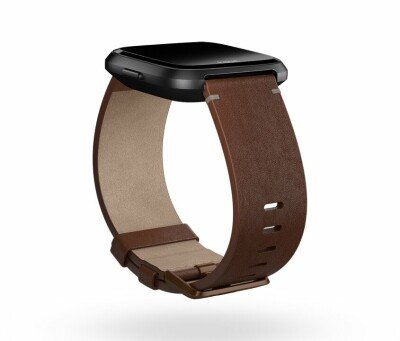 Fitbit Versa Accessory Leather Band Cognac - Small