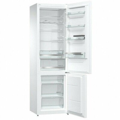 Gorenje Refrigerator NRK6201MW4 Free standing, Combi, Height 200 cm, A+, No Frost system, Fridge net capacity 254 L, Freezer net capacity 85 L, Display, 42 dB, White