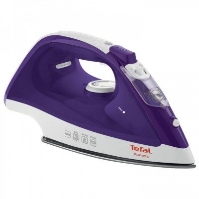 TEFAL LinenCare Access  FV1526E3 Violet/ white, 2000 W, Steam iron, Continuous steam 25 g/min, Steam boost performance 90 g/min, Vertical steam function, Water tank capacity 250 ml