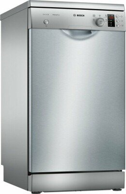 Bosch Dishwasher SPS25CI07E Free standing, Width 45 cm, Number of place settings 9, Number of programs 5, A+, Display, AquaStop function, Silver