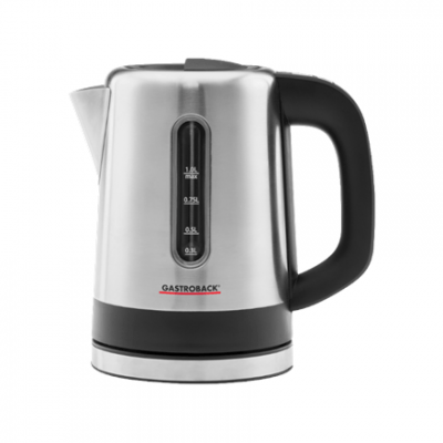 Gastroback Kettle 42435 With electronic control, Stainless steel, Stainless steel, 2200 W, 1 L, 360° rotational base