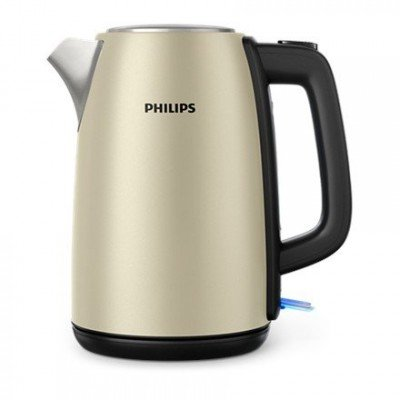 Philips Kettle HD9352/50 Standard, Stainless steel, Champagne, 2200 W, 360° rotational base, 1.7 L