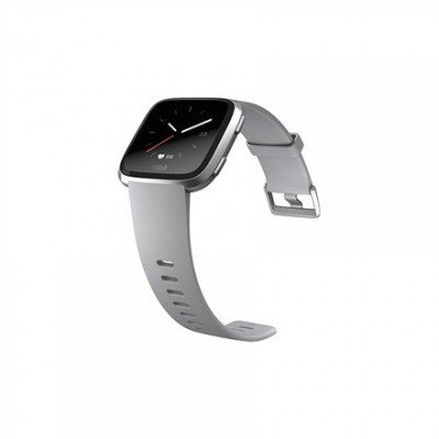 Fitbit Versa (NFC) smartwatch Color LCD, Touchscreen, Bluetooth, Heart rate monitor, Gray / Silver Aluminum