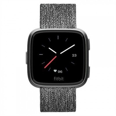 Fitbit Versa (NFC) smartwatch Color LCD, Touchscreen, Bluetooth, Heart rate monitor, Special Edition Charcoal Woven