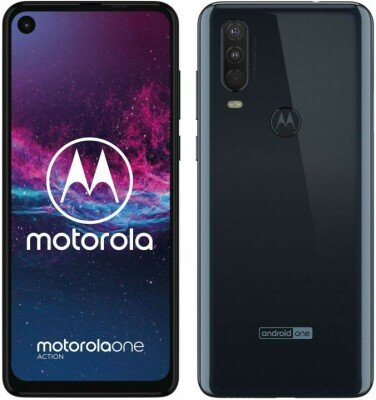"MOTOROLA ONE Action XT-2013 (Denim Blue) Dual SIM 6.3"" IPS LCD 1080x2520/2.2GHzx1.6GHz/128GB/4GB RAM/Android 9.0/microSD/microUSB,WiFi,4G,BT"