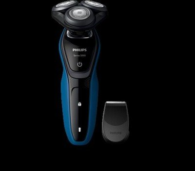 Philips Shaver for Men S5250/06 Wet use, Rechargeable, Charging time 1 h, Lithium-ion, Battery, Number of shaver heads/blades 5, Dark Royal Blue - Charcoal