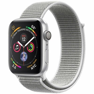 Apple Watch Series 4 GPS, 40mm Silver Aluminium Case with Seashell Sport Loop, Model A1977