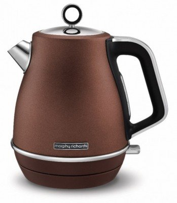 Morphy richards Kettle  104401 Standard, Stainless  steel, Bronze, 2200 W, 360° rotational base, 1.5 L