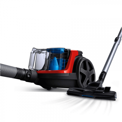 Philips Vacuum cleaner PowerPro Compact FC9330/09 Bagless, Red, 650 W, 1.5 L, AAA, E, C, A, 76 dB,