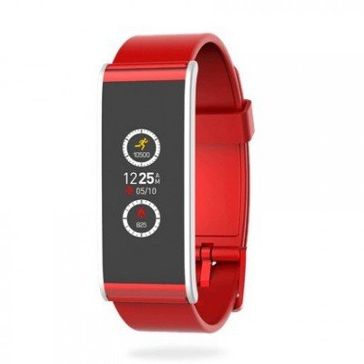 MyKronoz Smartwatch  Zefit4  80 mAh, Touchscreen, Bluetooth, Red/ silver, Activity tracker with smart notifications,
