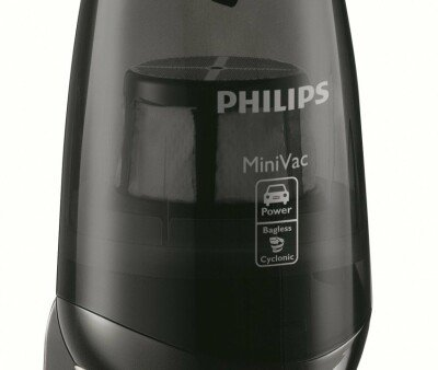 Philips MiniVac FC6141 Warranty 24 month(s), Deep black with silver accents, • Suction power (max): 22 W W, 81 dB