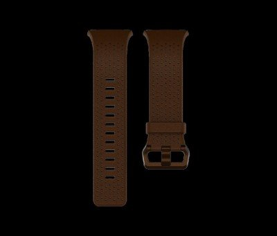 Fitbit Ionic Accessory Perforated Leather Band Dark Brown - Large