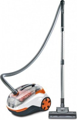 Thomas Vacuum cleaner Cycloon Hybrid Pet and Friends Bagless, White/black/orange, 1400 W, HEPA filtration system, 230 V