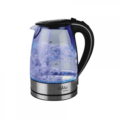 Gallet Electric kettle Montargis GALBOU742 Standard kettle, Glass, Glass/Black, 2200 W, 1.7 L, 360° rotational base