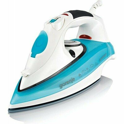 Gorenje SIH2200TC White/Turquoise, 2200 W, Steam Iron, Continuous steam 22 g/min, Steam boost performance 80 g/min, Anti-drip function, Anti-scale system, Vertical steam function, Water tank capacity 350 ml