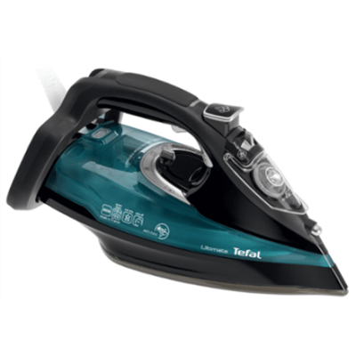TEFAL Ultimate FV9785E0 Black/Green, 3000 W, With cord, Continuous steam 55 g/min, Steam boost performance 230 g/min, Auto power off, Anti-drip function, Anti-scale system, Vertical steam function, Water tank capacity 350 ml