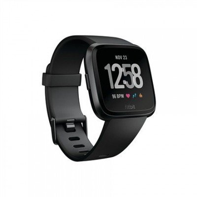 Fitbit Versa (NFC) smartwatch Color LCD, Touchscreen, Heart rate monitor, Bluetooth, Black