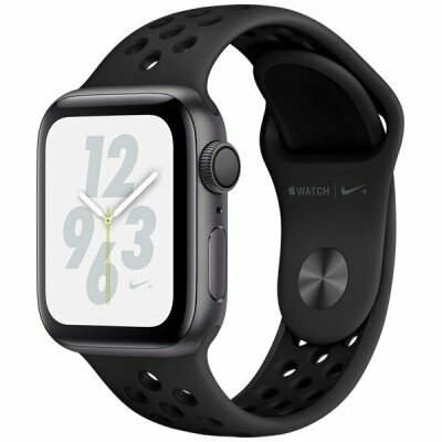 AppleWatch Nike+ Series4 GPS, 40mm Space Grey Aluminium Case with Anthracite/Black Nike Sport Band, Model A1977