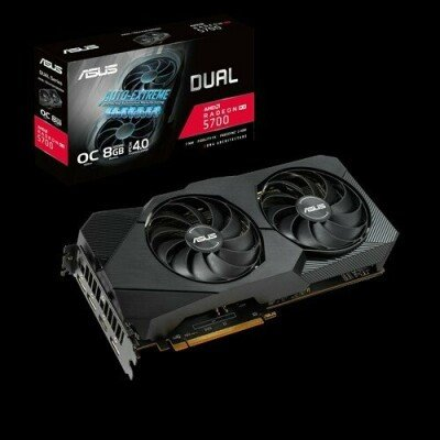 Asus DUAL-RX5700-O8G-EVO AMD, 8 GB, Radeon RX 5700, GDDR6, PCI Express 4.0, Processor frequency 1675 MHz, Memory clock speed 14000 MHz, HDMI ports quantity 1