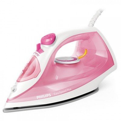 Philips Iron EasySpeed Plus  Rose/ white, 2000 W, Steam iron, Continuous steam 25 g/min, Steam boost performance 100 g/min, Anti-drip function, Anti-scale system, Vertical steam function, Water tank capacity 270 ml