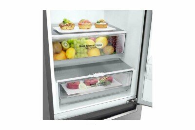 LG Refrigerator GBB61PZJZN Free standing, Combi, Height 186 cm, A++, No Frost system, Fridge net capacity 232 L, Freezer net capacity 107 L, Display, 36 dB, Platinum silver3