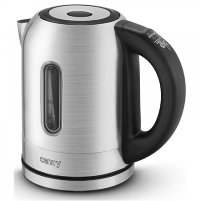 Camry Electric Water Kettle CR 1253 With electronic control, Stainless steel, Stainless steel, 2200 W, 360° rotational base, 1.7 L