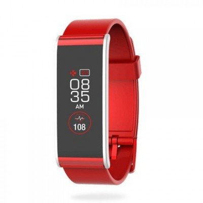 MyKronoz Smartwatch  Zefit4 HR 80 mAh, Touchscreen, Bluetooth, Heart rate monitor, Red/ silver, Activity tracker with smart notifications,