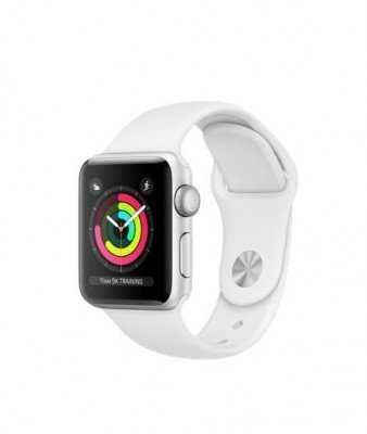 SMARTWATCH SERIES3 38MM ALUMIN/SILVER/WHITE SPORT MTEY2 APPLE