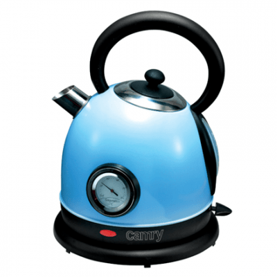 Camry CR 1252b Standard kettle, Stainless steel, Blue, 2200 W, 1.8 L, 360° rotational base
