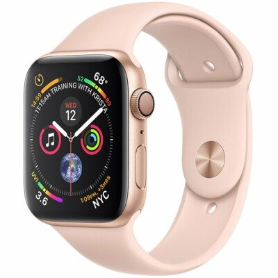 Apple Watch Series 4 GPS, 40mm Gold Aluminium Case with Pink Sand Sport Band, Model A1977