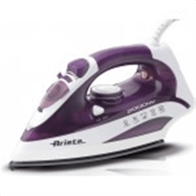Iron Ariete Steam Iron A6235 Purple, 2000 W, With cord, Continuous steam 25 g/min, Steam boost performance 140 g/min, Anti-drip function, Vertical steam function, Water tank capacity 250 ml