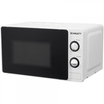 Scarlett Microwave oven SC - MW9020S02M 20 L, Mechanical, 700 W, White, Free standing, Defrost function