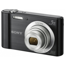 Sony Cyber-shot DSC-W800 Compact camera, 20.1 MP, Optical zoom 5 x, Digital zoom 40 x, Image stabilizer, ISO 3200, Display diagonal 6.86 cm, Video recording, Black
