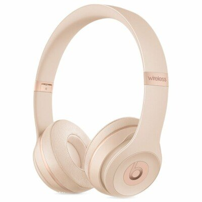 Beats Solo3 Wireless On-Ear Headphones - Satin Gold, Model A1796