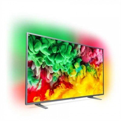 "Philips 50PUS6703/12 50"" (126 cm), Smart TV, Ultra HD Ultra Slim LED, 3840 x 2160 pixels, Wi-Fi, DVB T/C/T2/S/S2, Silver"
