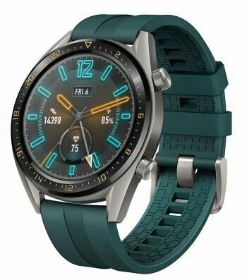 HUAWEI WATCH GT GREY WITH GREEN RUBBER STRAP