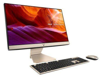 """Monoblock PC ASUS Vivo AiO V222FAK-BA282T All in One CPU Core i5 i5-10210U 1600 MHz Screen 21.5"""" RAM 8GB DDR4 SSD 512GB Graphics card Intel UHD Graphics Integrated ENG Windows 10 Home Colour Black Included Accessories Wireless golden keyboard//Wireless optical mouse 90PT02G1-M12110"""