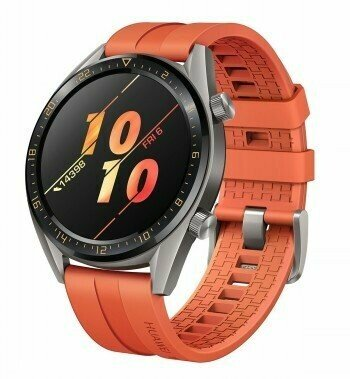 HUAWEI WATCH GT GREY WITH ORANGE RUBBER STRAP