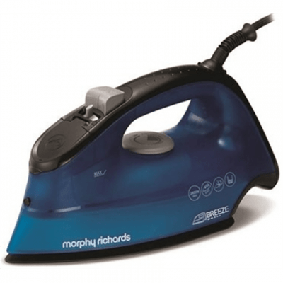 Iron Morphy richards 300261 Blue, 2400 W, With cord, Continuous steam 45 g/min, Steam boost performance 120 g/min, Anti-drip function, Anti-scale system, Vertical steam function, Water tank capacity 350 ml